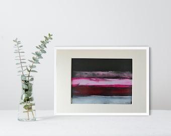 Original Matted UNFRAMED Modernist Abstract Painting , Modern Art, Minimalist Wall Decor, Professional Artist R Allsop, Contemporary Art