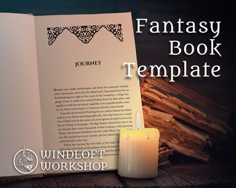Fantasy Book Design Template   InDesign CC 2015 or Higher   Mac or PC   For Self-Publishing Authors   EMBARK: Epic Fantasy Genre