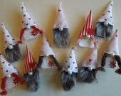 Gnome Fridge Magnets, Refrigerator Magnets, Gnome Decor, Gift for Her