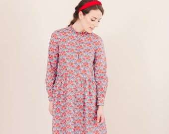 641624b2013d Long sleeved dress with ruffled neckline