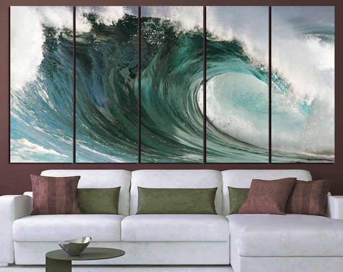 Ocean Waves Art,Large Ocean Wall Art, Ocean Waves Canvas Art,Ocean Print,Ocean Canvas Print,Large Waves Print,Ocean Wall Art, Ocean Canvas