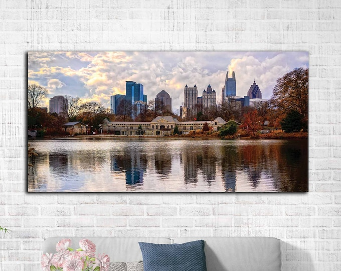 Atlanta City art, Atlanta city canvas print, Atlanta art canvas print , Atlanta wall art, Atlanta photography, Atlanta large canvas print