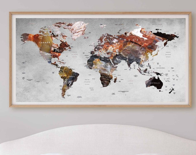 Push Pin World Map,World Map Pushpin,World Map Canvas,World Map Art,World Map Poster,Travel Map Poster,Travel Map,Rustic Pushpin Map Poster