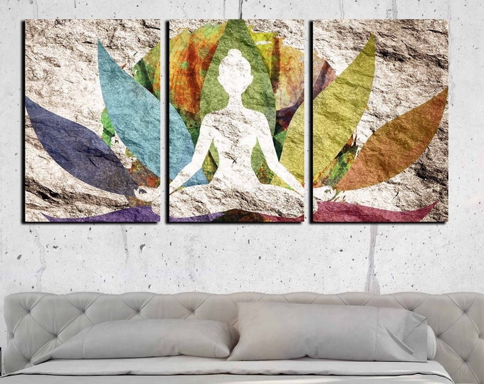 yoga art, yoga wall art, yoga art canvas print, yoga artwork, yoga art framed, lotus canvas print, yoga wall decor, Buddha wall art, yoga