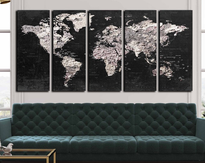 World Map Wall Art,World Map Canvas,Large World Map,World Map Push Pin,World Map Print,World Map Art,Abstract World Map,World Map Poster,Art