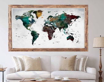 World map decal etsy world map poster printworld map large posterworld map art posterworld map decalworld map wall decalworld map push pintravel map poster gumiabroncs Images