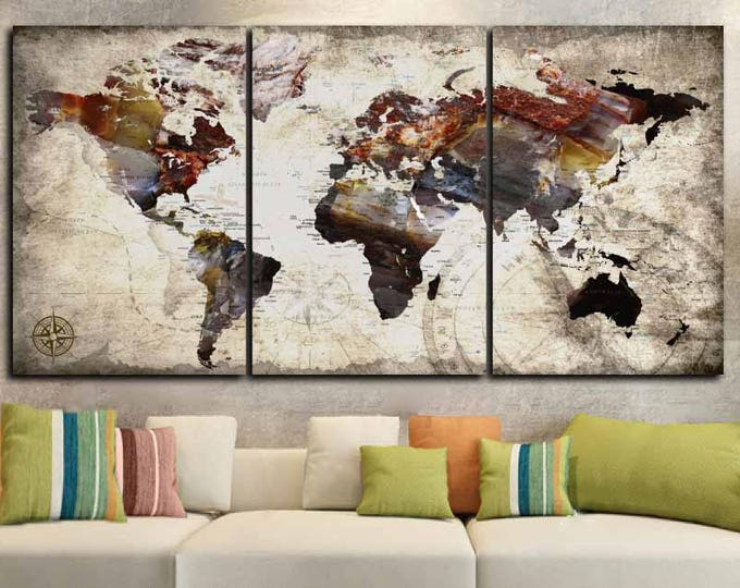 Push Pin World Map Large Canvas Print,World Map Push Pin,World Map,World Map Wall Art,World Map Travel,Push Pin Map Canvas,Push Pin Map Art