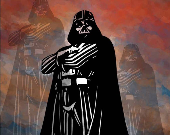 Darth Vader Wall Art Poster Print,Darth Vader Wall Decal,Star Wars Darth Vader Poster,Star Wars Wall Art,Darth Vader Watercolor Art,Star War