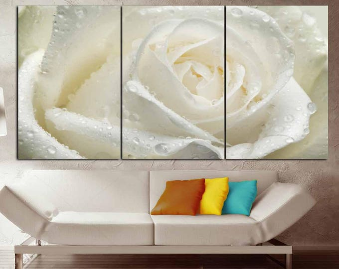 White Rose Rose Wall Art,White Rose Canvas Print,White Rose Art Print,White Flower Art,White Rose Canvas Art,Rose Wall Art,White Flower Wall