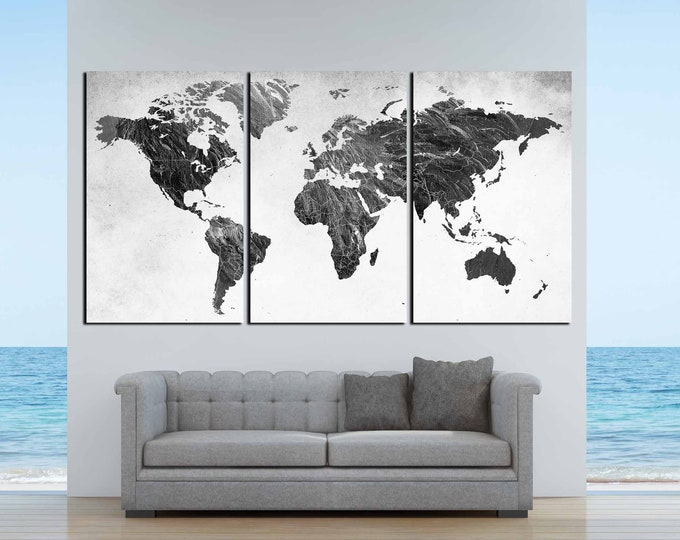 World Map,Black and White Map,World Map Black White,World Map Art,World Map Canvas,Black and White Map, Abstract World Map,Black White Wall
