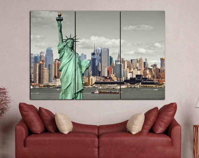 New York Wall Art,Statue of Liberty Art,New York Canvas Print,Statue of Liberty Canvas,New York Art Print,New York Skyline,New York Art,