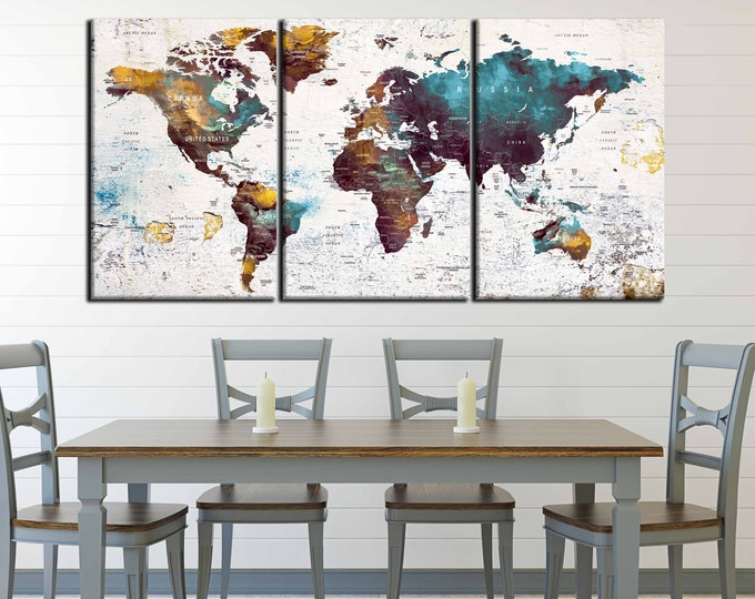 World Map,World Map Wall Art,World Map Canvas,World Map Abstract,Push Pin Map Wall Art,Push Pin Map Print,World Map Art Print,Map Wall Decal