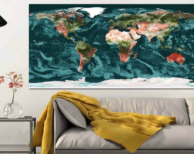 World Map Topographical,World Map Wall Art,Large World Map,World Map Canvas Print,World Map Print,World Map Art Print,World Map Physical Art