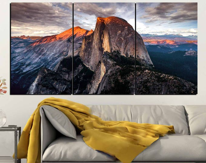 Half Dome Wall Art,Yosemite Art Print,Half Dome Canvas Art,Half Dome Sunset, Yosemite National Park,Yosemite Wall Art,Yosemite Canvas Print