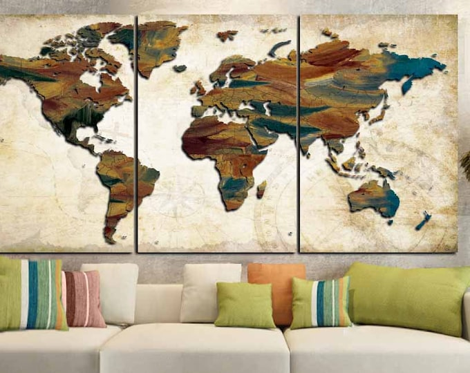 World Map Art,World Map Oil Painting,World Map Abstract,Word Map Canvas,World Map Print,World Map Canvas Art,World Map Painting,World Map