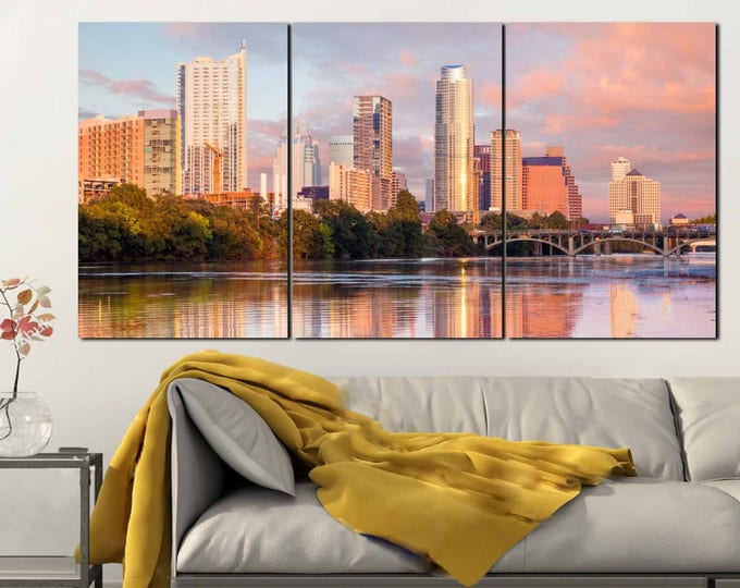 Large Austin Texas Wall Art,Austin City Skyline Canvas Art,Austin City Skyline,Austin Texas Canvas Print,Austin Wall Art,Large Austin City