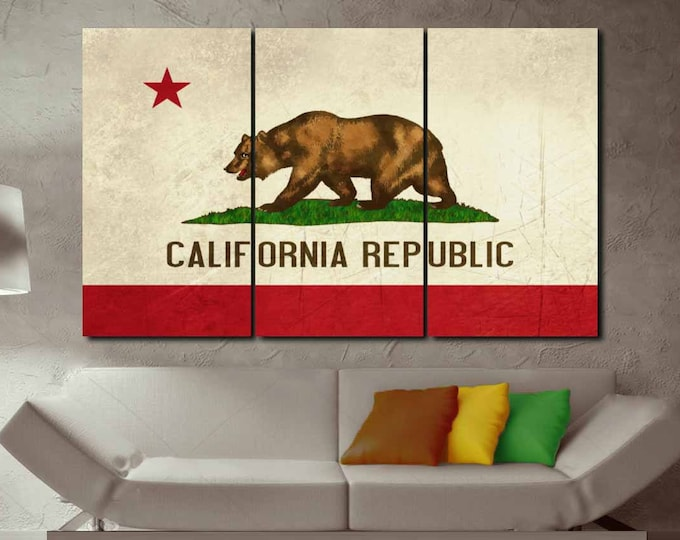 California Flag Wall Art Canvas Print,Large California Flag Wall Art,California State Flag,Large California Flag,California Flag Wall Art