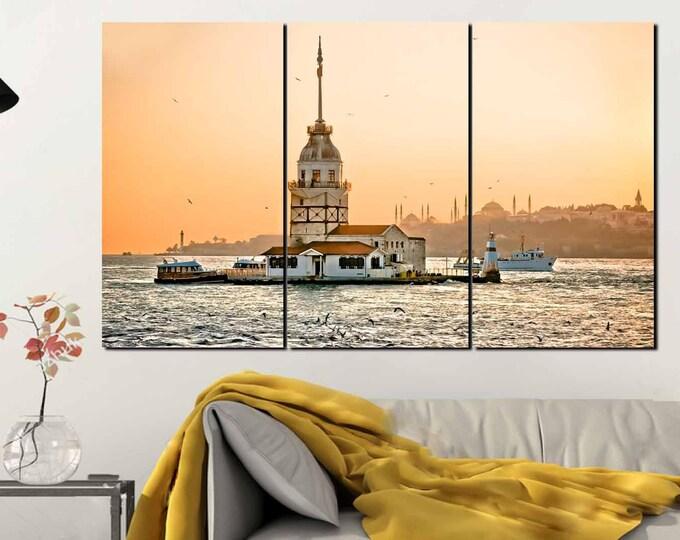 Maiden Tower Art,Istanbul Wall Art,Kiz Kulesi,Istanbul Maiden Tower,Maiden Tower Turkey Art,Maiden Tower Wall Art,Istanbul Wall Decor,