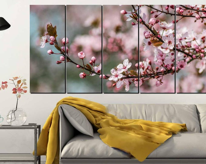 Cherry Blossom Canvas Panel,Cherry Blossom Art,Cherry Blossom Wall Art,Cherry Blossom Canvas,Cherry Blossom Art Print,Spring Floral Wall Art
