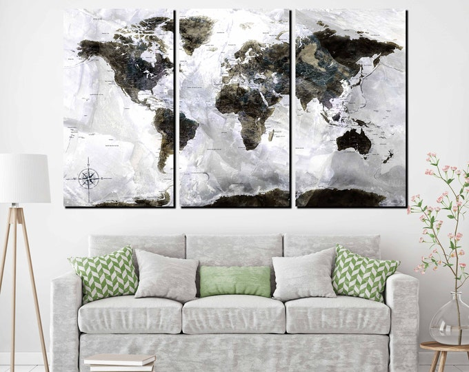 World map large, world map, world map canvas, world map art, world map canvas print, detailed world map with states and cities, world map