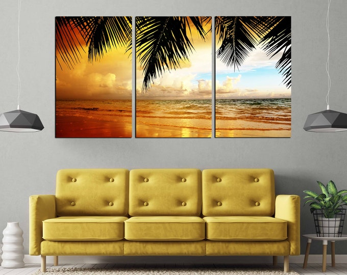 Sunset Wall Art,Beach Canvas Print,Beach Art Print,Large Wall Art,Large Sunset Print,Beach Canvas Print,,Living Room,Art, Sunset Photo Print