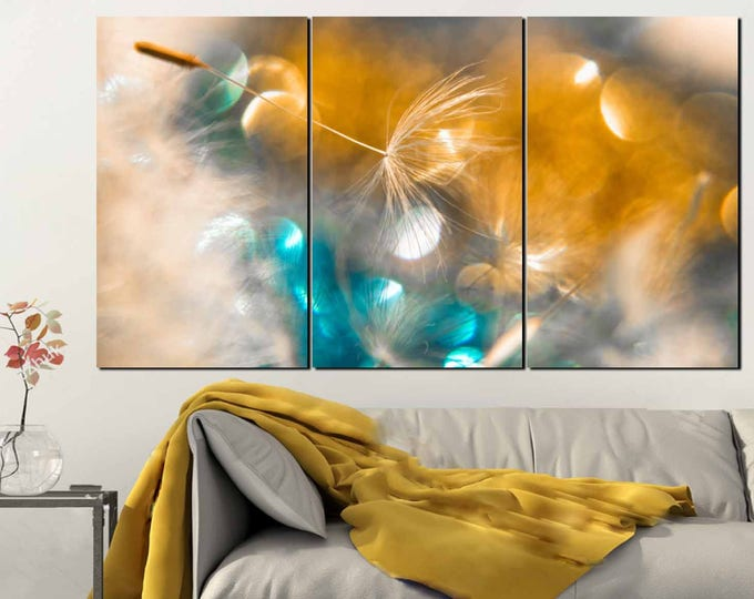 Dandelion Wall Art,Dandelion Art,Dandelion Canvas Panels,Dandelion Art Print,Dandelion Canvas Print,Dandelion Decor,Floral Wall Art,Flower