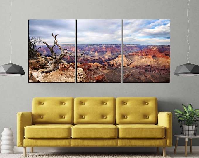 Grand canyon wall art, grand canyon canvas print, grand canyon art print, grand canyon landscape art, grand canyon large art print