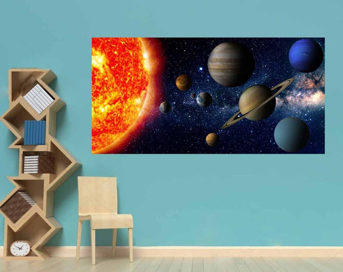 Solar System Poster,Solar System Art Print,Solar System Kid's Room Art,Nursery Room Wall Art,Educational Art,Solar System Wall Decal,Poster