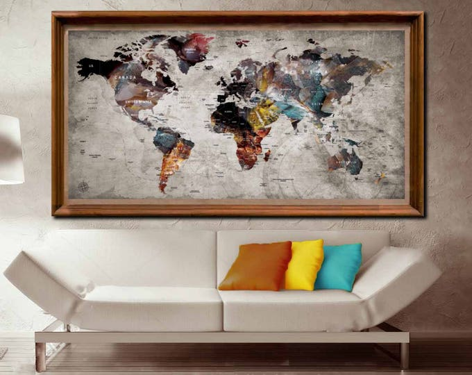 Large World Map Poster,World Map Poster,World Map Wall Art,World Map Decal,World Map Print,World Map Art,World Map Poster Print,World Map