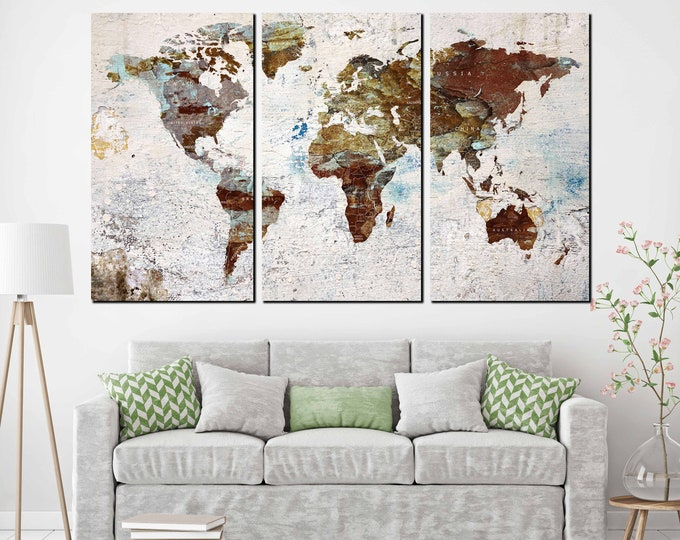 World map, world map large, world map wall art, world map canvas, world map print, push pin map, travel map canvas, world map abstract, map