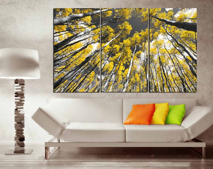 Aspen Tree Wall Art,Aspen Tree Art,Aspen Tree Canvas Art,Aspen Trees Wall Decor,Aspen Tree Panels,Fall Wall Art,Autumn Art,Autumn Wall Art,