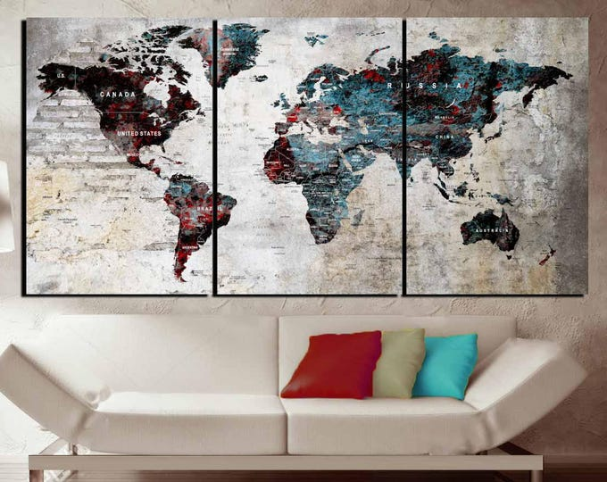 World Map,World Map Canvas,World Map Wall Art,Large Map Panels,Large World Map,Abstract World Map,Abstract Wall Art,World Map Art, Map Art