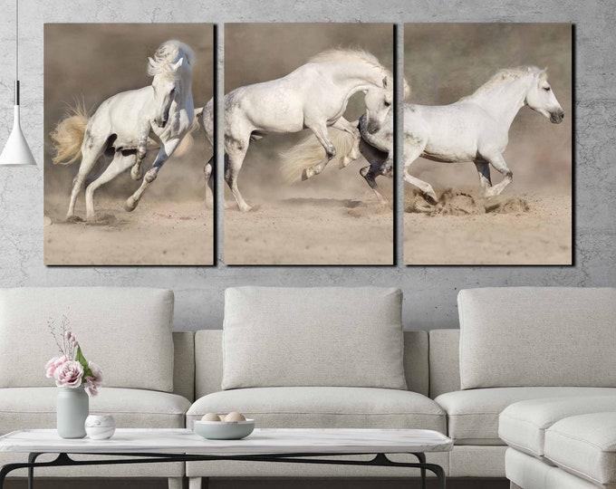 Horse Wall Art,Horse Canvas Art,Running Horses,Running Horses Art,Horse Canvas Print,Three Horses Wall Art,Large Horse Art,Large Horse Print
