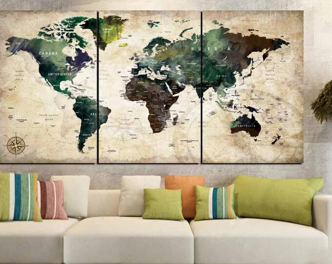 World Map,World Map Wall Art,Push Pin Map,Large World Map,Large Map Print,World Map Print,World Map Canvas,Abstract World Map,World Map Art