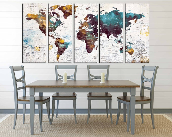 World Map Pushpin,Large World Map,Travel Map,World Map Art,World Map Canvas,Map Wall Art,Vintage World Map,Abstract Map Pushpin,Abstract Art