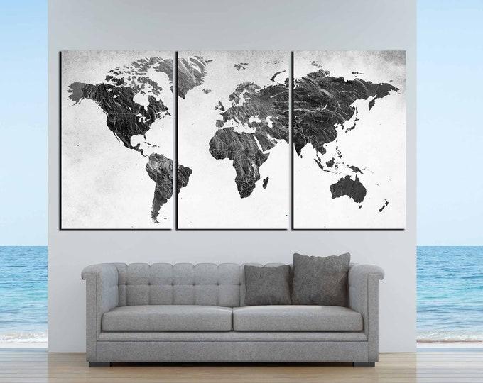 World Map,Black and White Map,World Map Black White,World Map Art,World Map Canvas,Black and White Map, Abstract World Map,Black White Wall