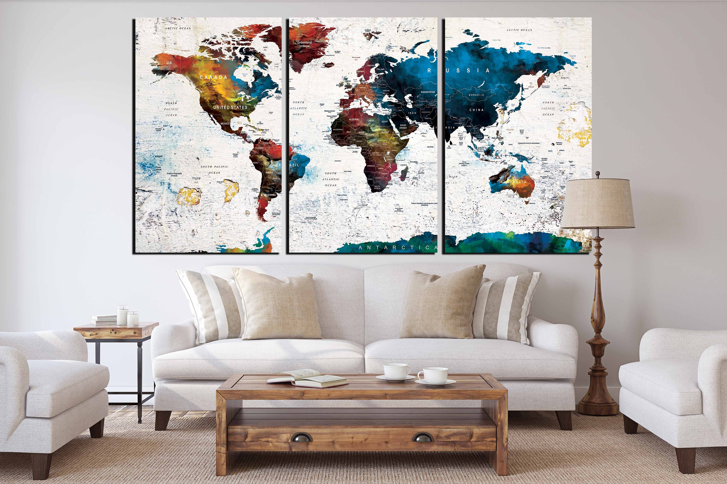 World map canvas art ready to hang world maplarge world mapworld world map canvas art ready to hang world maplarge world mapworld map push pinworld map printworld map artworld map panelstravel map gumiabroncs Choice Image