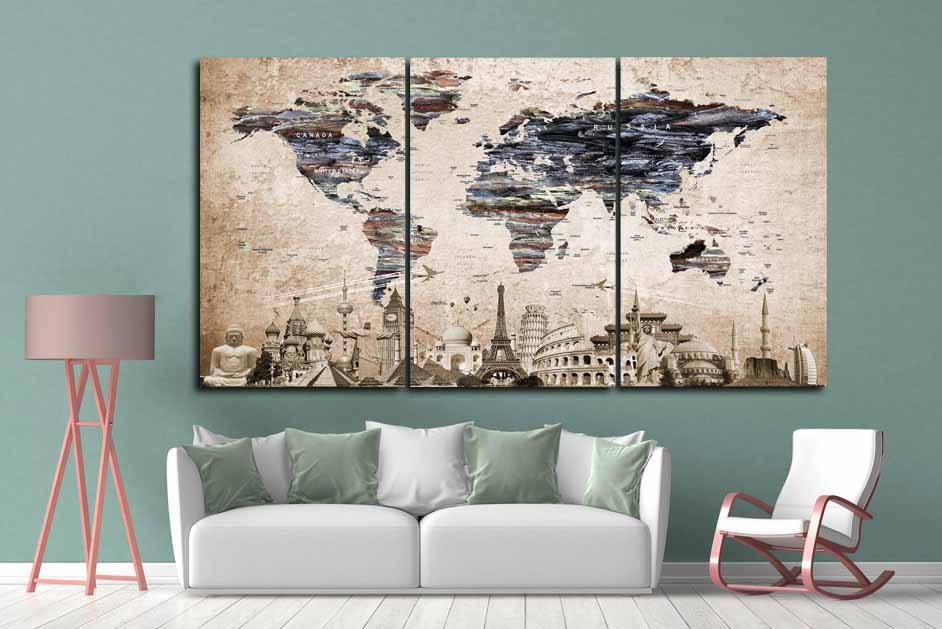 World map wall artlarge world mapvintage world mapworld map world map wall artlarge world mapvintage world mapworld map canvaspush pin map canvastravel map canvasworld map artold world map art gumiabroncs