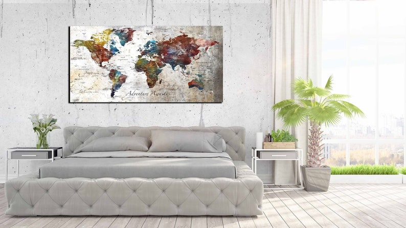 Personalized large world map canvas print, world map customizable art on map of the entire world, big map print world in, map of the whole world, detail map of whole world, map of pre-k posters of the world, printable map of whole world, binder paper size printable map of the world, big print united states map,