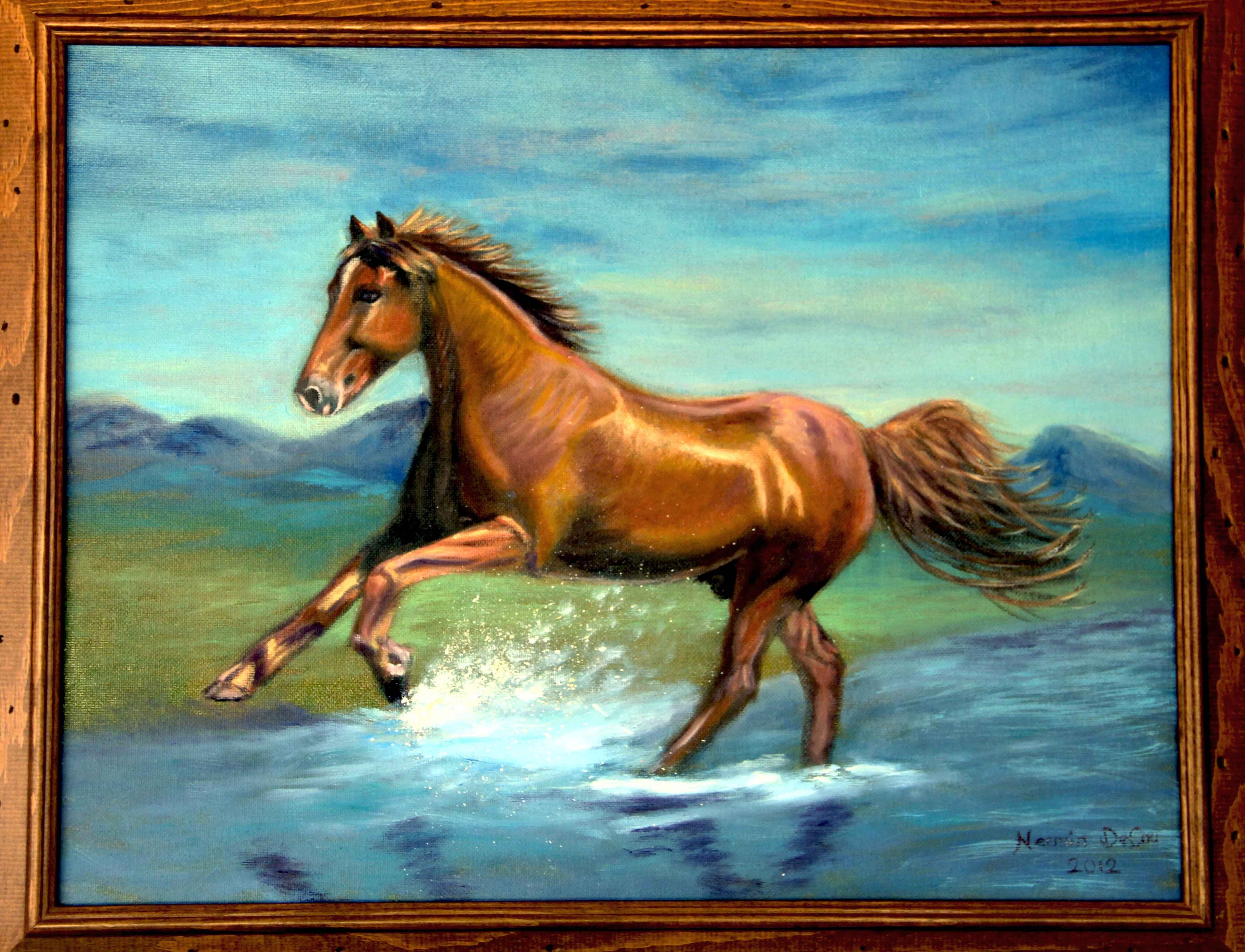 Horse Painting Horse Oil Painting Horse Wall Art Horse Print Canvas