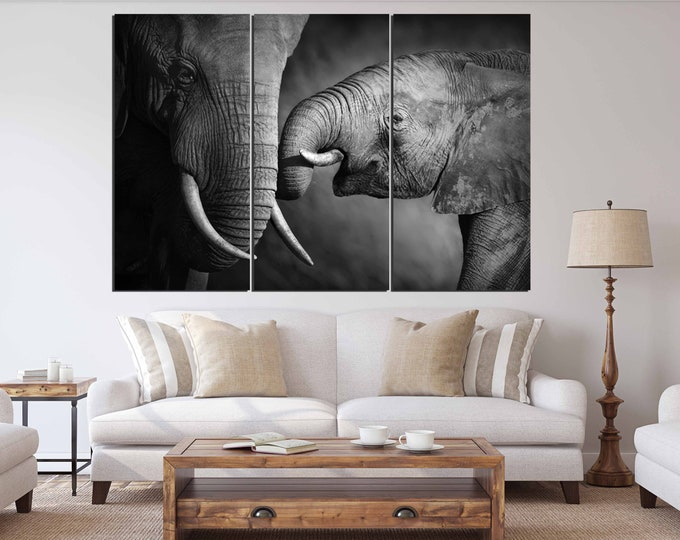 Mother and baby elephant love,Elephant wall art,Elephant art print.Elephant Photography,Elephant Art,Mothers' Day Present