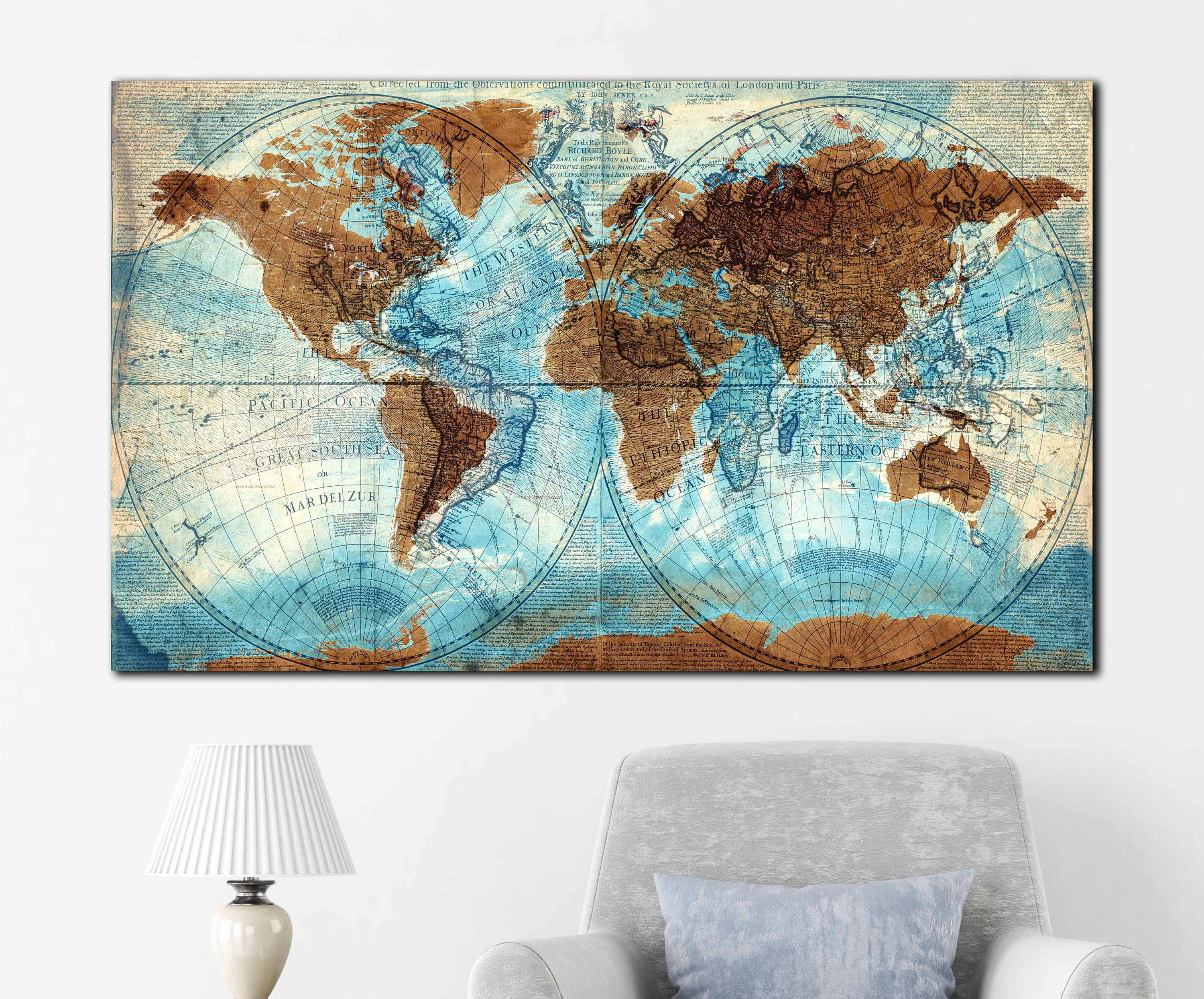 Vintage world map mixed with new world very detailed vintage world vintage world map mixed with new world very detailed vintage world map world map wall art world map canvas world map art world map print gumiabroncs Gallery