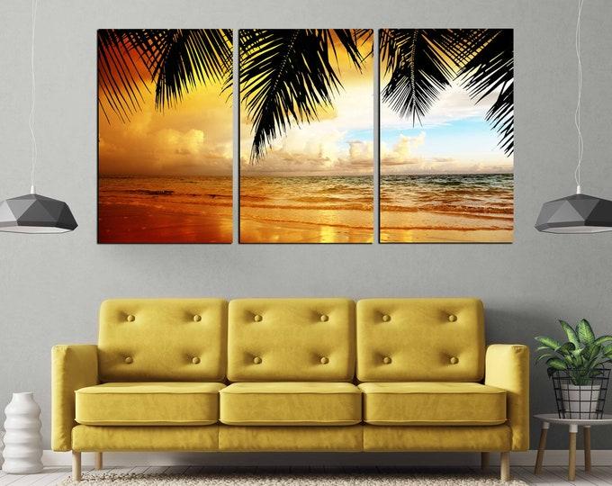 Sunset Wall Art,Beach Canvas Print,Beach Art Print,Large Wall Art,Large Sunset Print,Beach Canvas Print,,Living Room,Art, Sunset Photo Print
