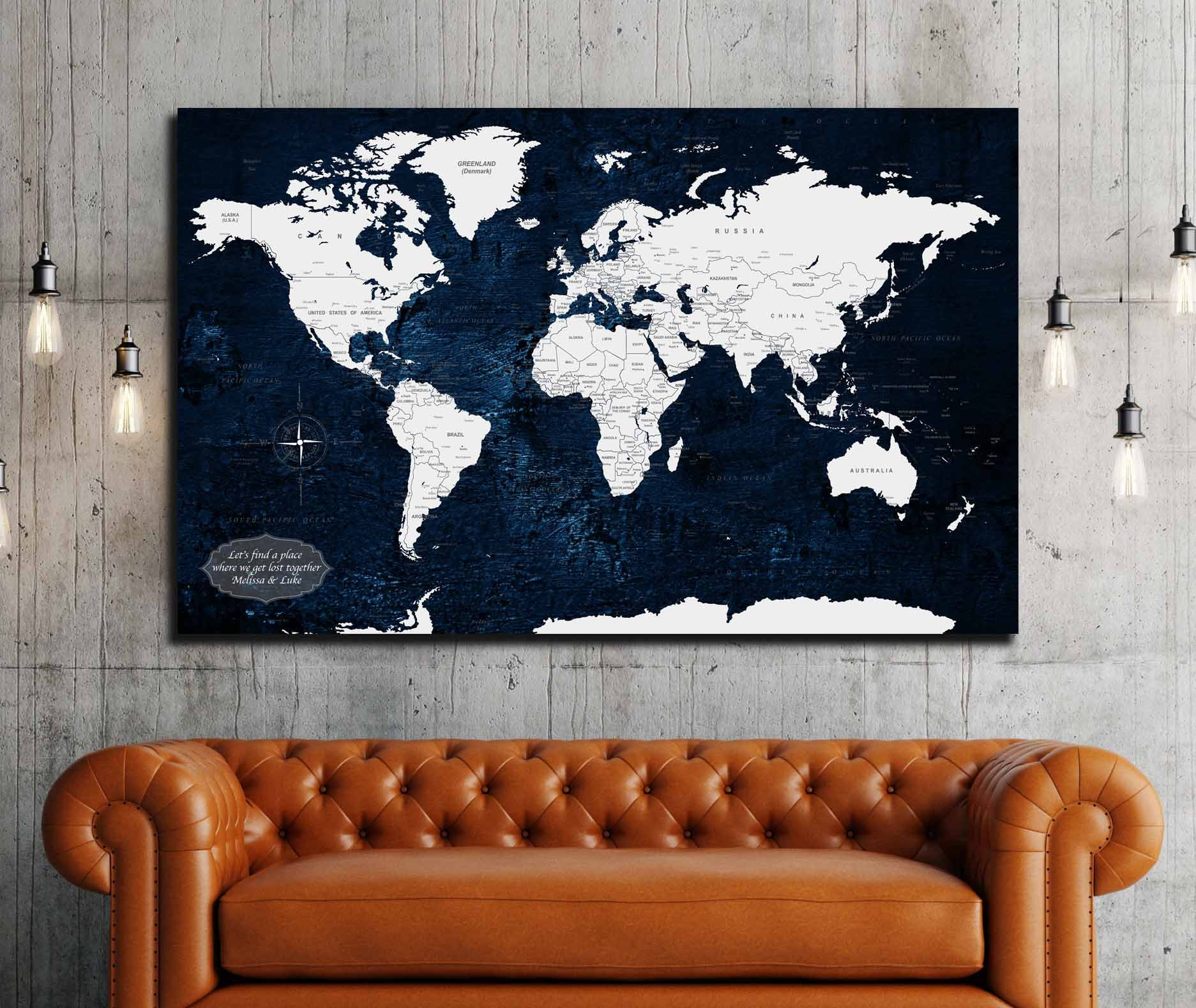 Personalized world map canvas print customize your travel map personalized world map canvas print customize your travel map anniversary gift idea push pin map art print world map canvas art map art gumiabroncs