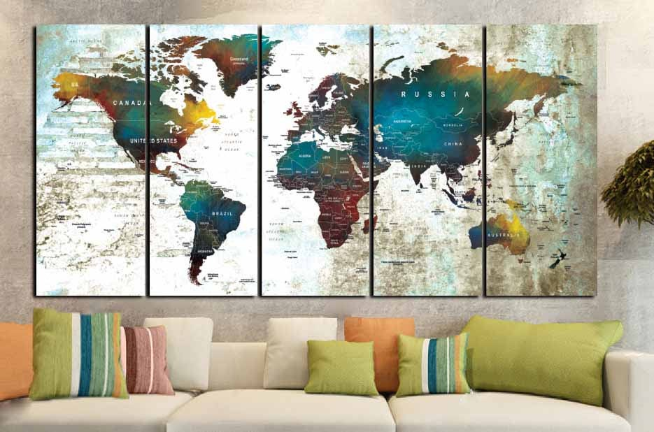 Large world map wall art multiple panelspush pin mapworld map large world map wall art multiple panelspush pin mapworld map canvasworld map printworld map artpush pin map canvaspush pin map canvas gumiabroncs Images
