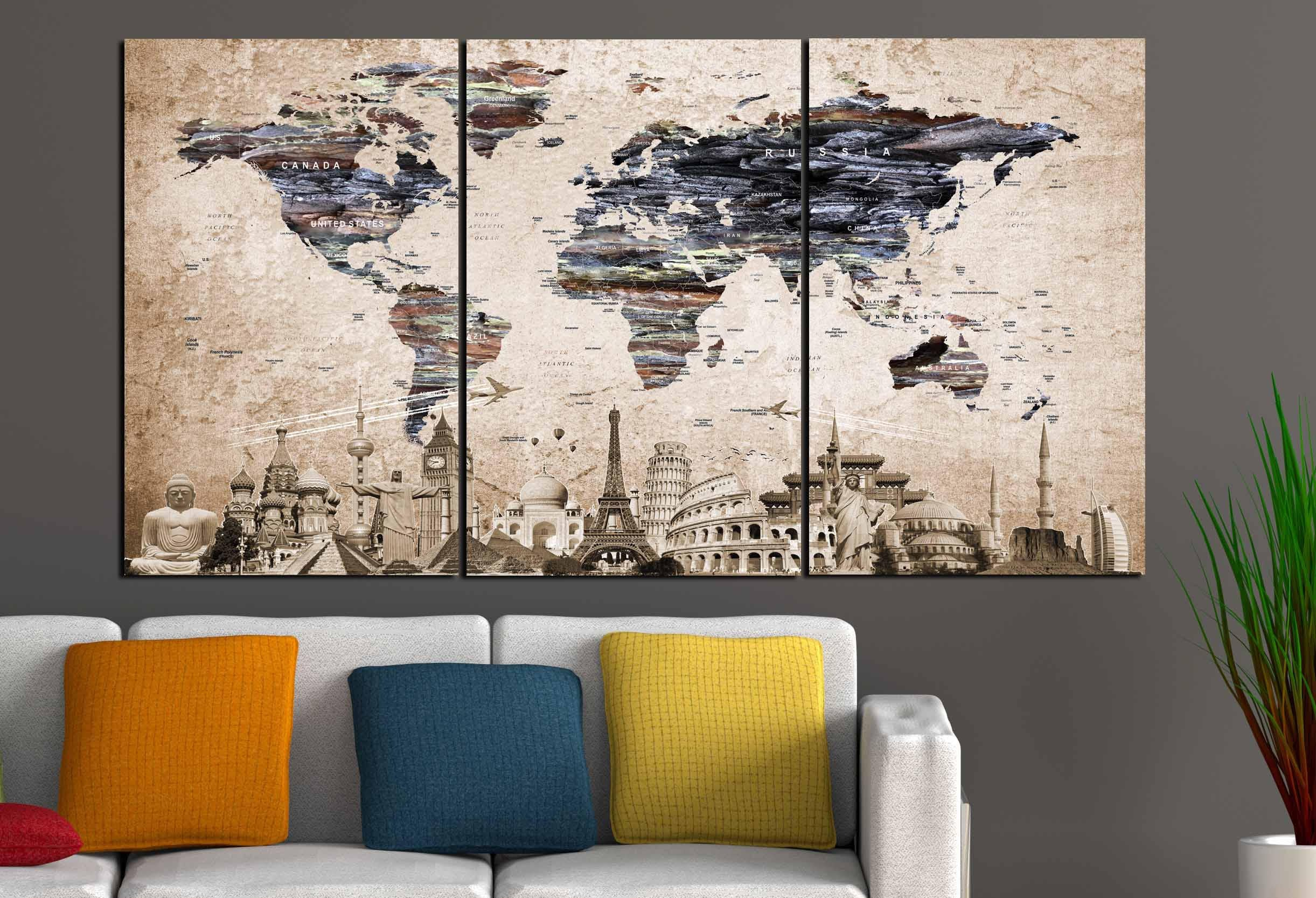 World map wall artlarge world mapvintage world mapworld map world map wall artlarge world mapvintage world mapworld map canvaspush pin map canvastravel map canvasworld map artold world map art gumiabroncs Image collections