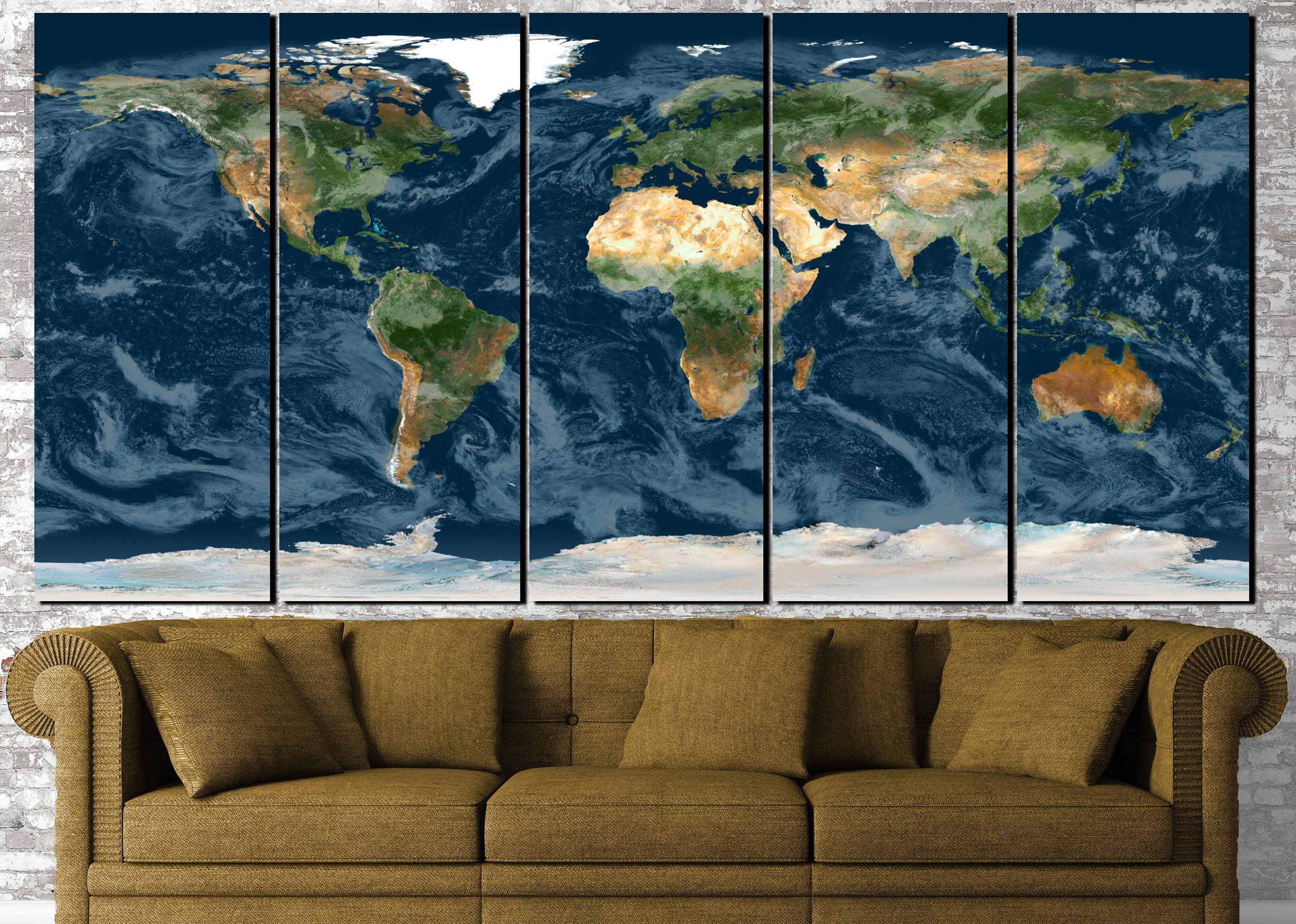 World Map Wall ArtTopographical World MapTopographical MapLarge World Map Large Map ArtNavy Blue World MapWorld Map CanvasMap Print & World Map Wall ArtTopographical World MapTopographical MapLarge ...