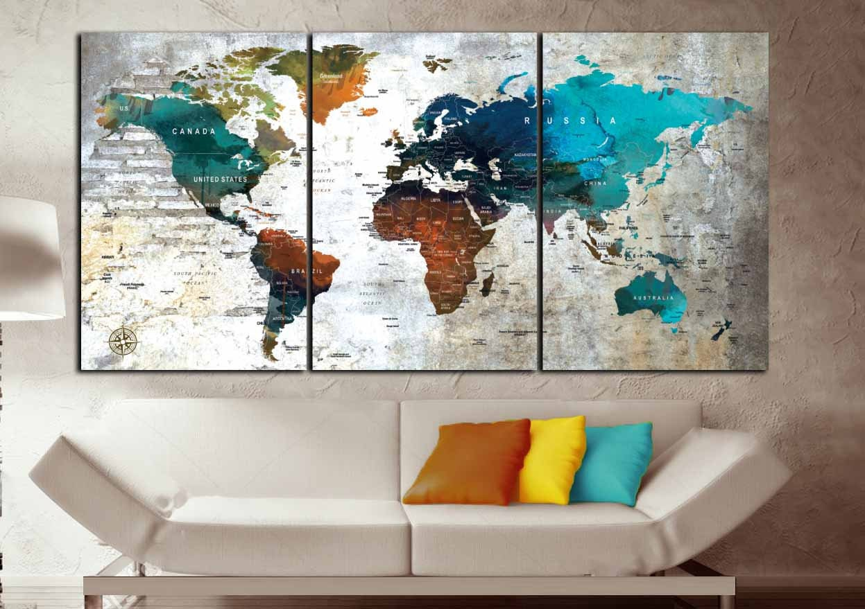 World map wall artworld map canvas printworld map printlarge world map wall artworld map canvas printworld map printlarge world mapworld map watercolorworld map wall decorworld map push pinmap gumiabroncs Image collections