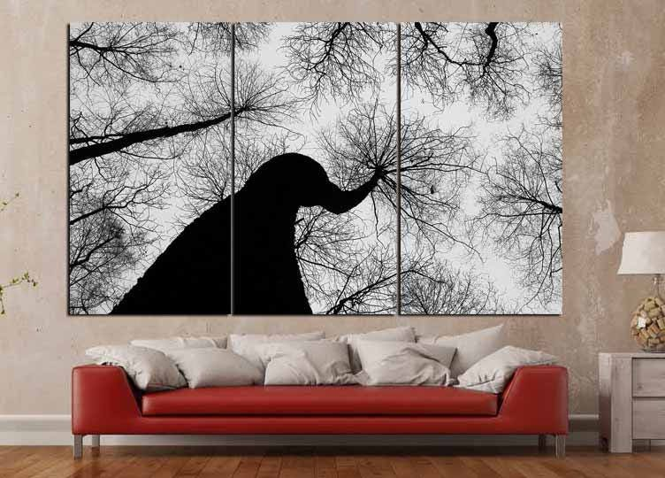 Dry Trees Wall Art Black And White Trees Large Wall Art Perspective