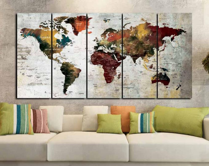 DeCouFineArts Zil On World Map on